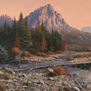 080525-1620  Fading Light On Horse Thief Creek Art Print