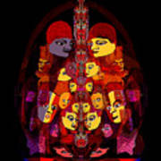 086 -  Masked People  A Art Print
