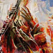 087 Marines Memorial Hands Art Print