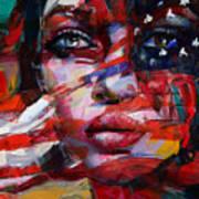 089 Flag And Eyes Art Print