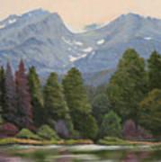 090817-1114  Ripples and Reflections - Sprague Lake Art Print