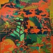0range Garden Art Print