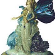 01md076-madame Butterfly Art Print by Shirley Heyn