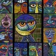 13 Faces  Art Print