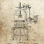 1903 Wine Press Patent Art Print