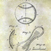 1924 Baseball Patent Art Print