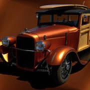 1929 Ford Model A Woody Art Print