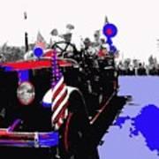 1930 American Lafrance Fire Truck Pro-viet Nam War March Tucson Arizona 1970 Color Added Art Print