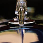 1934 Packard Hood Ornament 3 Art Print