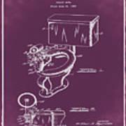 1936 Toilet Bowl Patent Chalk Art Print
