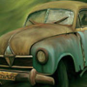 1950's Vintage Borgward Hansa Sports Coupe Car Art Print