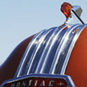 1952 Pontiac Tin Woodie Wagon Hood Ornament Art Print