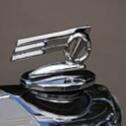 1952 Triumph Renown Limosine Radiator Cap Art Print