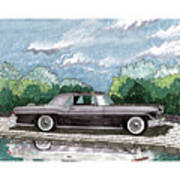 1956  Lincoln Continental Mk II Art Print