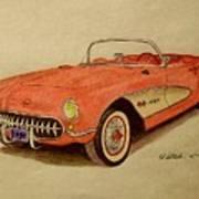 1957 Corvette Art Print