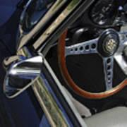 1963 Jaguar Xke Roadster Steering Wheel Art Print