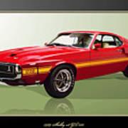 1969 Shelby v8 GT350  Art Print