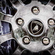 1997 Lamborghini Diablo Roadster  Wheel Emblem -1303ac Art Print