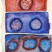 1 2 3 Rocks Art Print