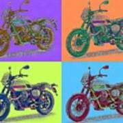 2016 Moto Guzzi V7ii Stornello - Warhol Style Art Print