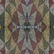 21970. Mosaic Rhythm Of Roman Baths. Art Print
