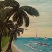 3 Palms Art Print