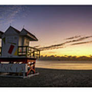 7901- Miami Beach Sunrise  Art Print