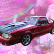 93 Mustang Art Print