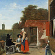 A Dutch Courtyard Art Print