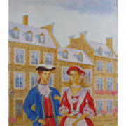 A Gentlemen With His Lady . Art Print