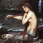 A Mermaid John William Waterhouse Art Print