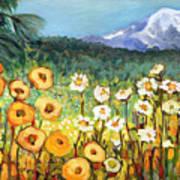 A Mountain View Art Print