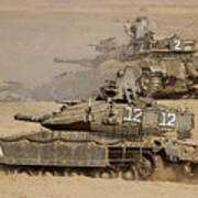 A Pair Of Israel Defense Force Merkava Art Print
