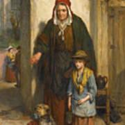 A Poor Beggar Bodie Art Print