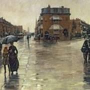 A Rainy Day In Boston Art Print