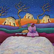 A Snowy Night Art Print by Anne Klar