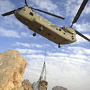 A U.s. Army Ch-47 Chinook Helicopter Art Print