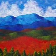 A View Of The Blue Mountains Of The Adirondacks Art Print
