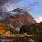 A View Of The Mountain Pass Called The Notch Of The White Mountains Art Print