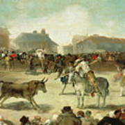 A Village Bullfight Art Print