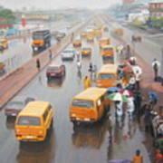 A Wet Day In Lagos Art Print