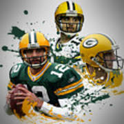 Aaron Rodgers Packers Art Print