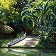 Abandoned Canoe Art Print