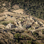 Abandoned Village Of Occi And The Coast Of Corsica Art Print