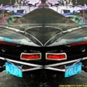 Abstract Black Car Art Print