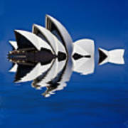 Abstract Of Sydney Opera House Art Print