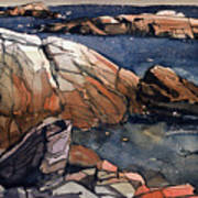 Acadia Rocks Art Print by Donald Maier