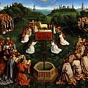 Adoration Of The Mystic Lamb Art Print