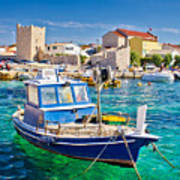 Adriatic Town Of Razanac Colorful Waterfront Art Print