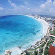 Aerial Of Cancun Art Print